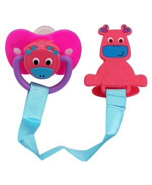 1st Step Pacifier With Link - Pink