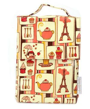 Sugar Booger Multic Print Classic Lunch Sack  - Yellow