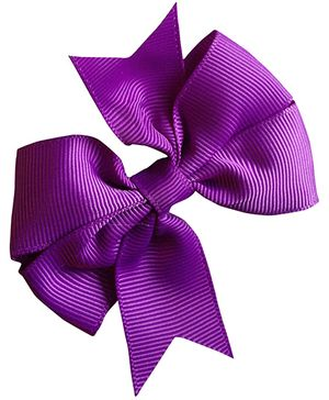 Akinos Kids Ribbon Bow Hair Clip - Purple