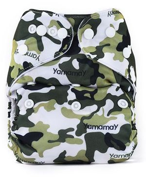 Bumberry Pocket Cloth Diaper With One Microfiber Insert - Military