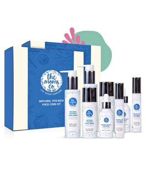 the moms co Complete Vita Rich Face Care Bundle (Face Wash , Face Cream , Face Serum and Under Eye Cream - Pack of 4(Pack of 2)