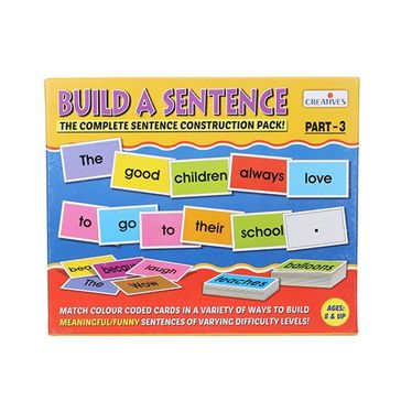 Creative Build A Sentence The Complete Sentence Construction Pack Part 3  Online India, Buy Educational Games for (8-12 Years) at FirstCry com -