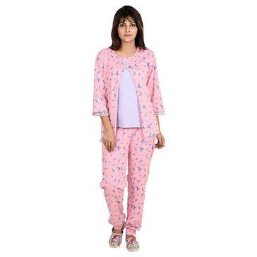9teenAGAIN Watermelon Print Maternity Nursing Night Suit Pink Online in  India 92ba922be