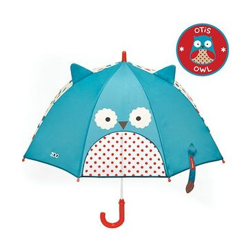 Skip Hop Little Kid And Toddler Umbrella Zoo Owl Design - Blue