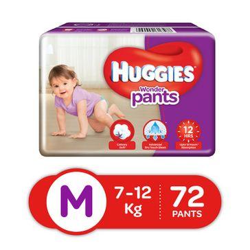 Huggies Wonder Pants Medium Size Pant Style Diapers - 72 Pieces