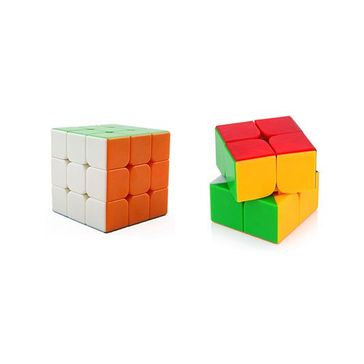 Emob 2x2 Rubik Cube Plus 3x3 Puzzle Combo Multicolor - Pack Of 2