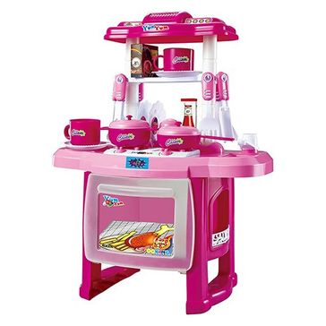 Webby Kitchen Cooking Set With Music And Light - Pink