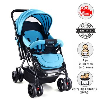 c317945b802a Babyhug Symphony Stroller With Mosquito Net Blue Online in India ...