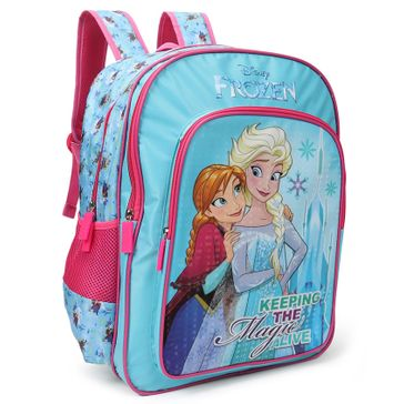 Disney Frozen School Bag Blue Pink - Height 16 inches