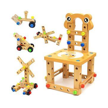 Emob DIY Wooden Multi Functional Construction Set - Multicolour