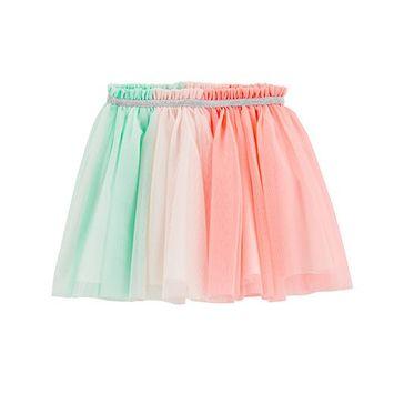 26e9478b6 Buy Carters Tulle Tutu Skirt Peach Green for Girls (3-4 Years ...