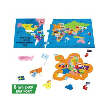 e96c5bd42cf9 Imagi Make Mapology World With Flags and Capitals Multicolour 86 pieces  (Color May Vary) Online India, Buy Puzzle Games & Toys for (5-10 Years) at  ...