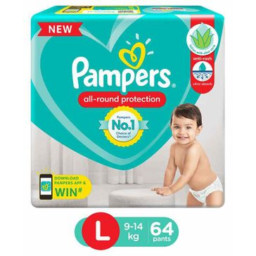 8baff8de7c7 Pampers Pant Style Diapers Large 64 Pieces Online in India