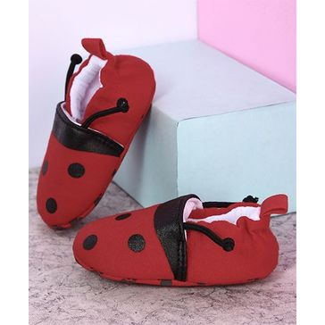 Kidlingss Polka Dots Booties - Red