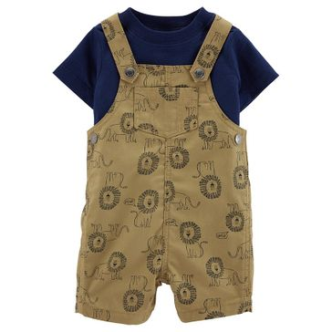 Carter's 2-Piece Tee & Lion Shortalls Set - Brown