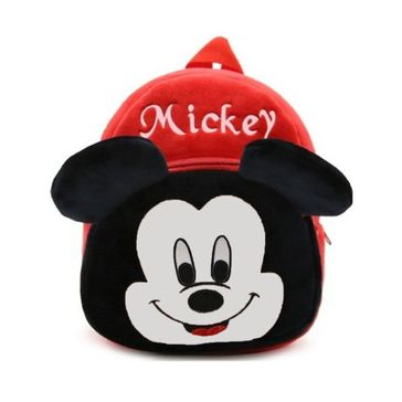 Frantic Velvet Nursery Bag Mickey Mouse Red Black - Height 14 inches