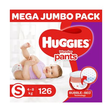 Huggies Wonder Pants Diaper Monthly Pack Small Size - 126 Pieces