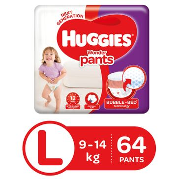 Huggies Wonder Pants Large Size Pant Style Diapers - 64 Pieces