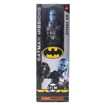 DC Comics Batman Mission Mr freeze Figure Black Blue - Height 29.5 cm Freeoffer