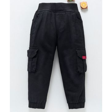 Baby Boys Pull-On Cargo Pants Navy Grey Infant Size 12 18 Months Kids 4 7 New