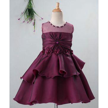Enfance Flower Detailed Sleeveless Dress - Violet