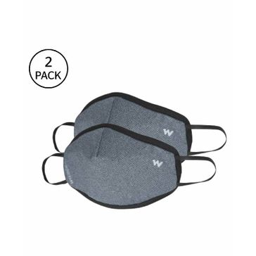 Wildcraft W95 Reusable Face Mask Large Size Grey - Pack...