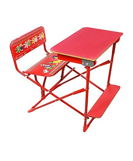 5f0102c8d Sohum Folding Study Desk With Chair Red Online in India