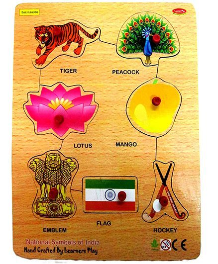 Learners Play National Symbols Multicolor 7 Pieces Online India Buy