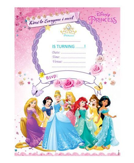 Disney Princess Invitations Cards Pack Of 10 Online In India Buy At