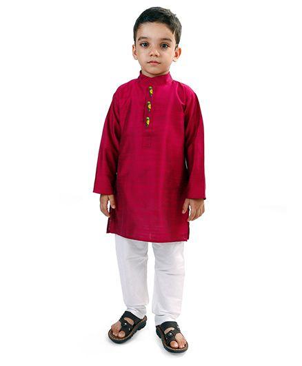 2bd755932094 Buy Raghav Kurta   Pyjama Set Raspberry Red for Boys (4-5 Years ...