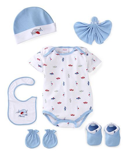 Morisons Baby Dreams Baby Gift Box Pack Of 6 - Blue (Design May Vary) 80f63d334aec