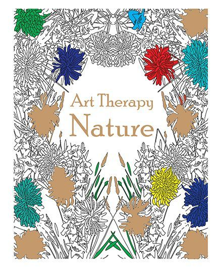 Art Therapy Nature Coloring Book - English