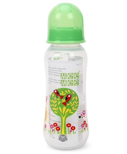 Mee Mee Feeding Bottle Green - 250 ml (Shape and Print May Vary)