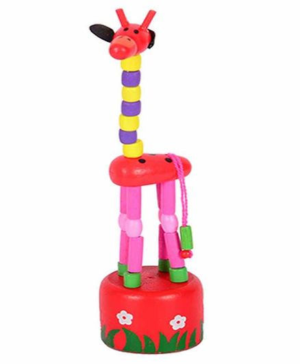 Desi Karigar Wooden Toy Giraffe (Colors May Vary)