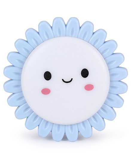 Smiling Sun Shaped Night Lamp - Blue