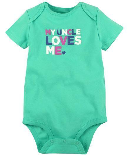 ea55ecd6c Buy Carters Uncle Loves Me Bodysuit for Girls ( Months) Online in ...