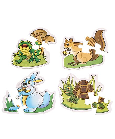 Creative Early Puzzles 4 Shaped Animal Puzzles