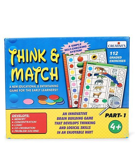 Creative Think & Match Part 1 Game - Multicolor