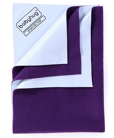 Babyhug Smart Dry Bed Protector Sheet Small - Plum