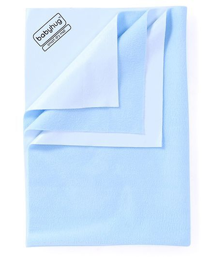 Babyhug Smart Dry Bed Protector Sheet Medium - Sky Blue