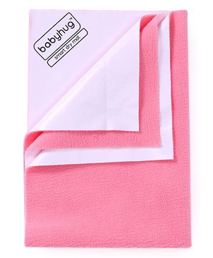 Babyhug Smart Dry Bed Protector Sheet Medium - Saloman Rose