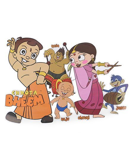 Sticker Bazaar Chhota Bheem Big Cut Out Online in India, Buy at Best Price  from Firstcry com - 1240943