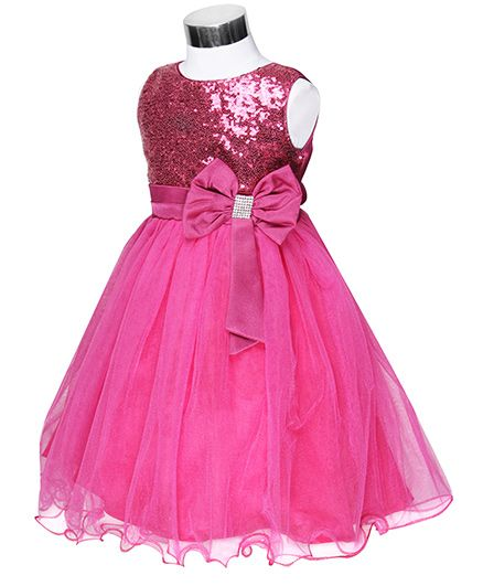 f4d1d1fb8c9 Buy The Kidshop Sequins Embellished Party Dress Fuchsia Pink for ...