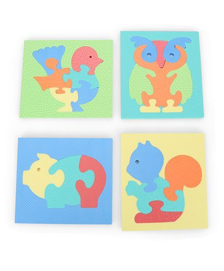 Funjoy Jigsaw Puzzles Animals & Birds Pig Squirrel Duck Owl 3 4 6 8 Pieces  Online India, Buy Puzzle Games & Toys for (2-6 Years) at FirstCry com -