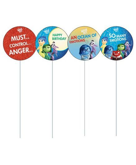 Disney Inside Out Cupcake & Food Toppers Pack of 10 - Multi Color