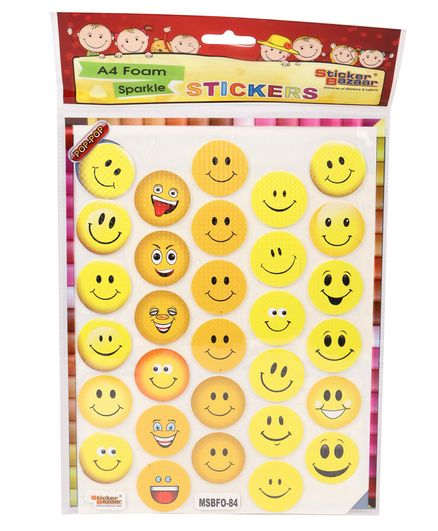 d6c703fefdf6 Sticker Bazaar Smiley A4 Foam Stickers Multi Color Online in India, Buy at  Best Price from Firstcry.com - 1265802