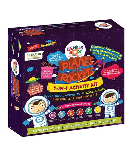 Genius Box 7 in 1 Planes and Rocket Activity Kit