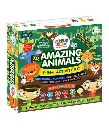 Genius Box Learning Toys For Children Amazing Animals Activity Kit - Green