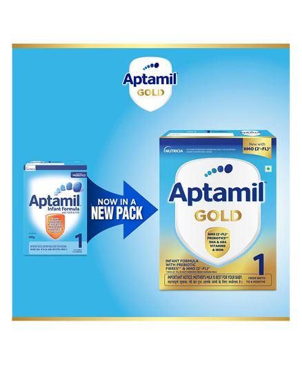 Nutricia's Aptamil 1 Infant Formula Powder With Prebiotics Stage 1 Bag-In-Box Pack - 400 gm