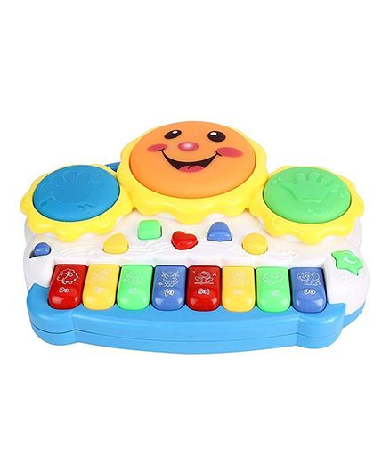 emob electronic drum plus organ keyboard with flashing lights and